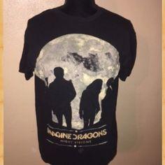 Imagine dragons band tee shirt graphic tee Imagine dragons band tee. 2013. Summer festival alternative Tops Tees - Short Sleeve