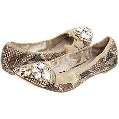 Mia = First Shoe Love. The first pair of shoes that I coveted and saved up for were Mia's. These Natural Multi Snake Parisian Flats remind me of that first pair of Mia's!