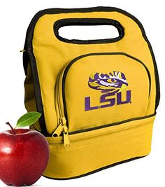 LSU Tigers Lunch Bag Cooler Two Section LSU Lunchboxes -- You can get additional details at the image link.
