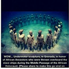 Middle Passage sculpture in honor of my lost decendants
