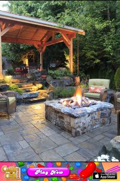 Beautiful ! Fire pit for nice outdoor living . Love the stones and country feel http://thechive.com/2013/07/14/my-favorite-tapiture-photos-of-the-week-50-photos-27/