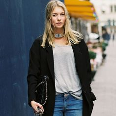 #stealthelook #look #looks #streetstyle #streetchic #moda #fashion #style #estilo #inspiration #inspired #blazer #colar #jeans #prata #necklace