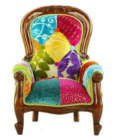 Patchwork Child's Grandfather Chair Designers by JustinaDesign
