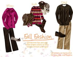 I love brown as an alternative to black especially for Fall pictures.  And, I love the pop of color with the pink!
