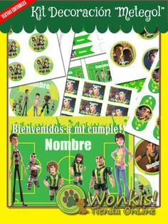 metegol_deco_0 Kit, Peanuts Comics, Comic Books, Cover, Garlands, Step By Step, Invitations, Hilarious, Paper Envelopes