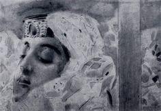 Михаил Александрович Врубель. Тамара в гробу (фрагмент)