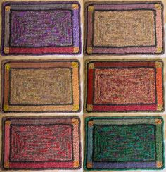#crochet rug Mode Crochet, Knit Crochet, Crochet Stitches, Crochet Patterns, Crochet Ideas, Kilim Rugs, Rag Rugs, Knit Rug, Rug Ideas