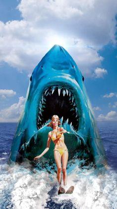 Jaws Film, Jaws Movie, Jaws 2, Horror Icons, Horror Art, Horror Movies, Andre Luis, Shark Art, Big Shark