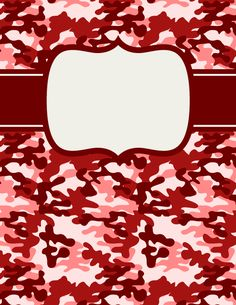 Free printable red camouflage binder cover template. Download the cover in JPG or PDF format at http://bindercovers.net/download/red-camouflage-binder-cover/