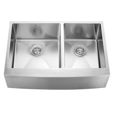 33-inch Farmhouse Stainless Steel 16 Gauge Double Bowl Kitchen Sink $368.98 as of 12 4 15