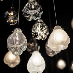 Petra Krausová's Cassia lamps for Lasvit form twinkling installation at Maison&Objet