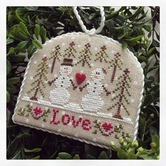 Country Cottage Ornaments - ornament 3 snow love