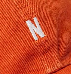 Norse Projects Logo-embroidered Cotton-twill Baseball Cap In Orange Logo Branding, Logos, Norse Projects, Look Cool, Baseball Cap, Indigo, Vibrant, Orange, Cotton