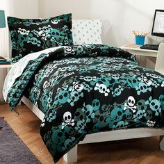 Dream Factory Skulls Bed in a Bag: Bedding : Walmart.com