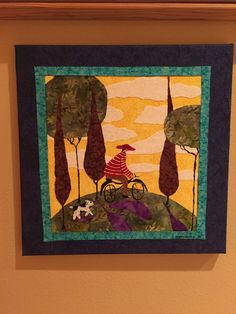 Quilt Art:  Italian Cyclist by ArtOpening on Etsy https://www.etsy.com/listing/260390293/quilt-art-italian-cyclist