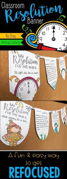 Looking for a fun activity for your students after winter break? This January writing craft makes a great bulletin board display and encourages your students to think about goal setting and resolutions for the new year. Great for morning work or as a writing center on those first few days after break, this no prep pennant banner is ideal for engaging your 2nd grade, 3rd grade, 4th grade, or 5th grade students after a long break.