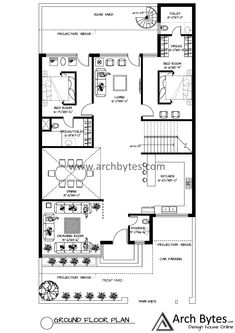 Model House Plan, Dream House Plans, House Roof Design, Indian House Plans, Architectural Floor Plans, Floor Layout, Indian Homes, Amai, Fireplace Design