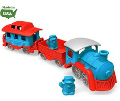 Green Toys® Train.  With no metal axles or external coatings, the Green Toys® Train is safe and versatile for both indoor and outdoor play, and is dishwasher safe for easy cleaning.
