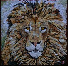 Mosaico in marmi policromi e quarzi.  Artistic Mosaic made with polichrome marbles