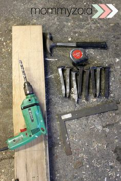 DIY: Wine Rack from Railway Spikes - www.mommyzoid.ca