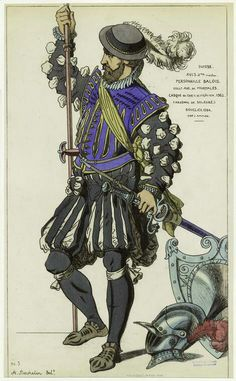 Swiss soldier from Basel. 16th century                                                                                                                                                                                 More