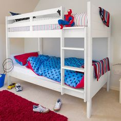 Jango Children's Bunk Bed - White Make great use of your space with a Jango bunk bed, perfect for giving your children that little extra play space. White Bunk Beds, Wooden Bunk Beds, Bunk Bed With Trundle, Childrens Bunk Beds, Kids Bedroom, Bedroom Ideas, Your Space, Toddler Bed, 8 Weeks