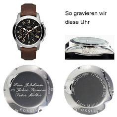 Fossil Uhr FS4813 Grant mit Gravur