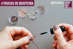 Si te gusta elaborar piezas de bisutería artesanal, tienes que conocer estos trucos.