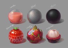 Materials_part1, Elena Kroshilina on ArtStation at https://www.artstation.com/artwork/GEQKd