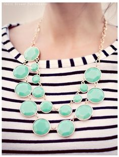 Kate Spade Inspired Double Drop Necklace
