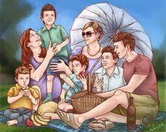 Tracy Family Picnic by LenleG on DeviantArt Family Bbq, Family Picnic, Gordon Cooper, Thunderbirds Are Go, Anime Family, Album Covers, Harry Potter, Old Things, Fandoms