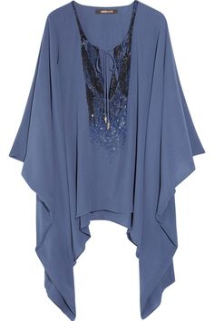 Cavalli sequinned kaftan top