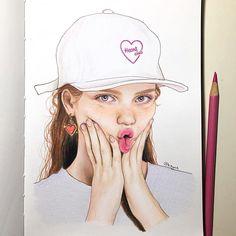 Color Pencil Art, Freckles, Insta Art, Colored Pencils, Doodles, Sketches, Fan Art, Cartoon, Photo And Video