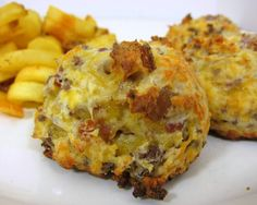 Football Friday - Bacon Cheeseburger Puffs | Plain Chicken