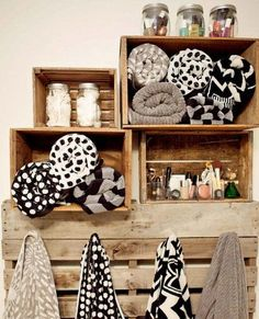 Bathroom Storage Ideas for Small Spaces - Pallet Shelving - Click Pic for 42 DIY Bathroom Organization Ideas
