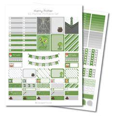 Erin Condren Harry Potter Slytherin Printable Planner Sticker Set, Erin Condren Life Planner, Instant Download by lepaperhouse on Etsy https://www.etsy.com/listing/257856980/erin-condren-harry-potter-slytherin