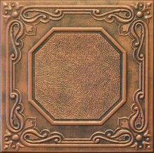 antique copper ceiling tile, Styrofoam replica