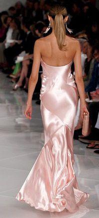 Ralph Lauren pink silk 2012.