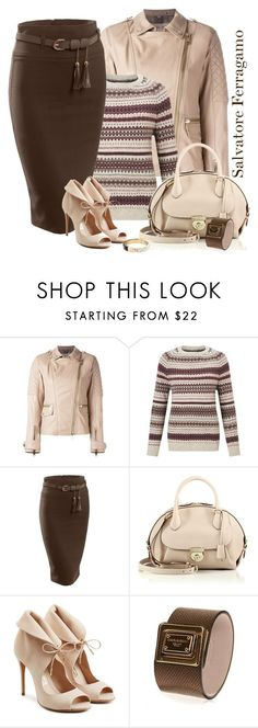 """""""Salvatore Ferragamo bag and shoes"""" by lorrainekeenan ❤ liked on Polyvore featuring Burberry, Barbour Heritage, LE3NO, Salvatore Ferragamo, Dolce&Gabbana and Michael Kors"""
