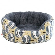 Hector Dog Bed in Leaf Fabric made by Poppy and Rufus Ltd in -