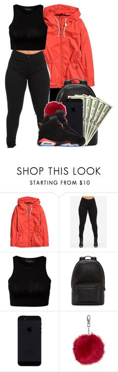 """Untitled #190"" by heavensincere ❤ liked on Polyvore featuring H&M, PB 0110, Topshop and Retrò"