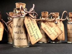 Tiny message in a bottle, vintage inspired, weddings, showers, parties , Alice or beach theme, miniature save the date, favor, place card on Etsy, $2.95