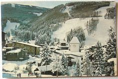 Postcard Vail Village in The Snow Vail Mountain Co Town View Colorado | eBay