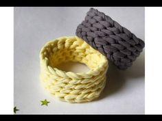 Простой браслет крючком из трикотажной пряжи Лента - YouTube