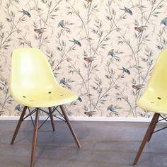 Vitra loves wallpaper.... Ein kleiner Einblick Love Wallpaper, Eames, Chair, Furniture, Home Decor, Konstanz, Old Town, Wallpapers, Decoration Home