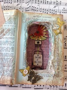 Altered book - Sculpture - Art Is A Blessing To Be Thankful For