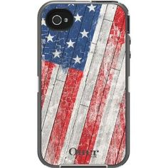 Amazon.com: OtterBox 77-20646 Defender Series Anthem Collection Case for iPhone 4/4S - 1 Pack - Retail Packaging - Rustic Flag: Cell Phones & Accessories