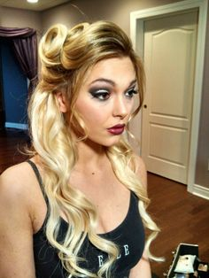 Behind the scenes of a photo shoot with Lara Cole.  #pinup #glam MUA/ Holly Brewer, Hair/ Michelle Parkes