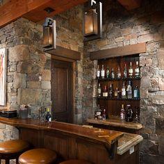 27 Basement Bars That Bring Home the Good Times Rustic basement
