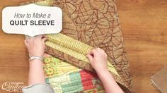 Quilt sleeves are a great way to hang up your most recent quilt project or quilt design. This video will walk you through how to make a quilt sleeve of your own! http://www.nationalquilterscircle.com/video/how-to-make-a-quilt-sleeve-003799/?utm_source=pinterest&utm_medium=organic&utm_campaign=A219 #LetsQuilt